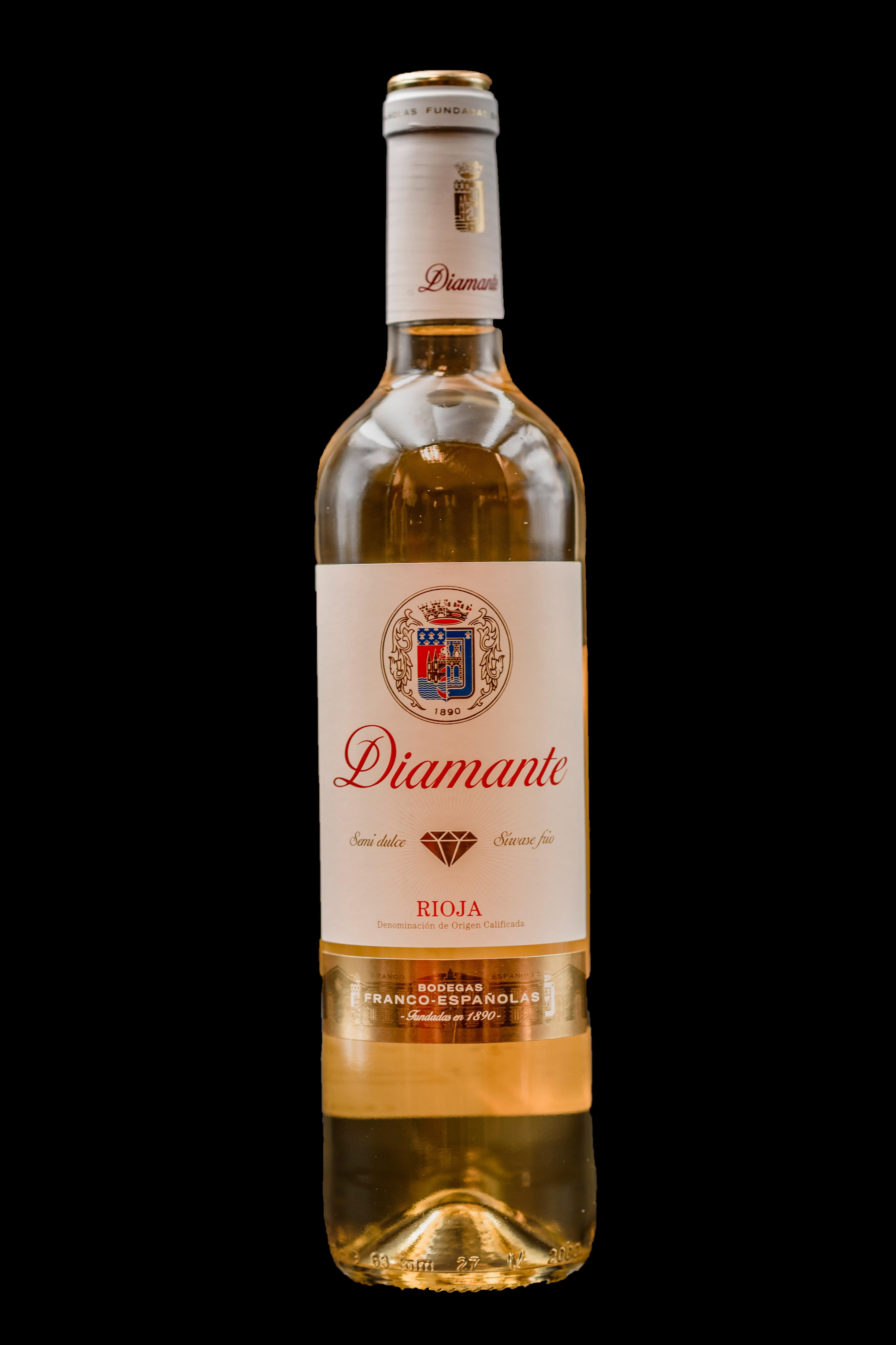 Botella Vino Blanco Rioja Diamante Restaurante Museo del Jamón de Alcorcón