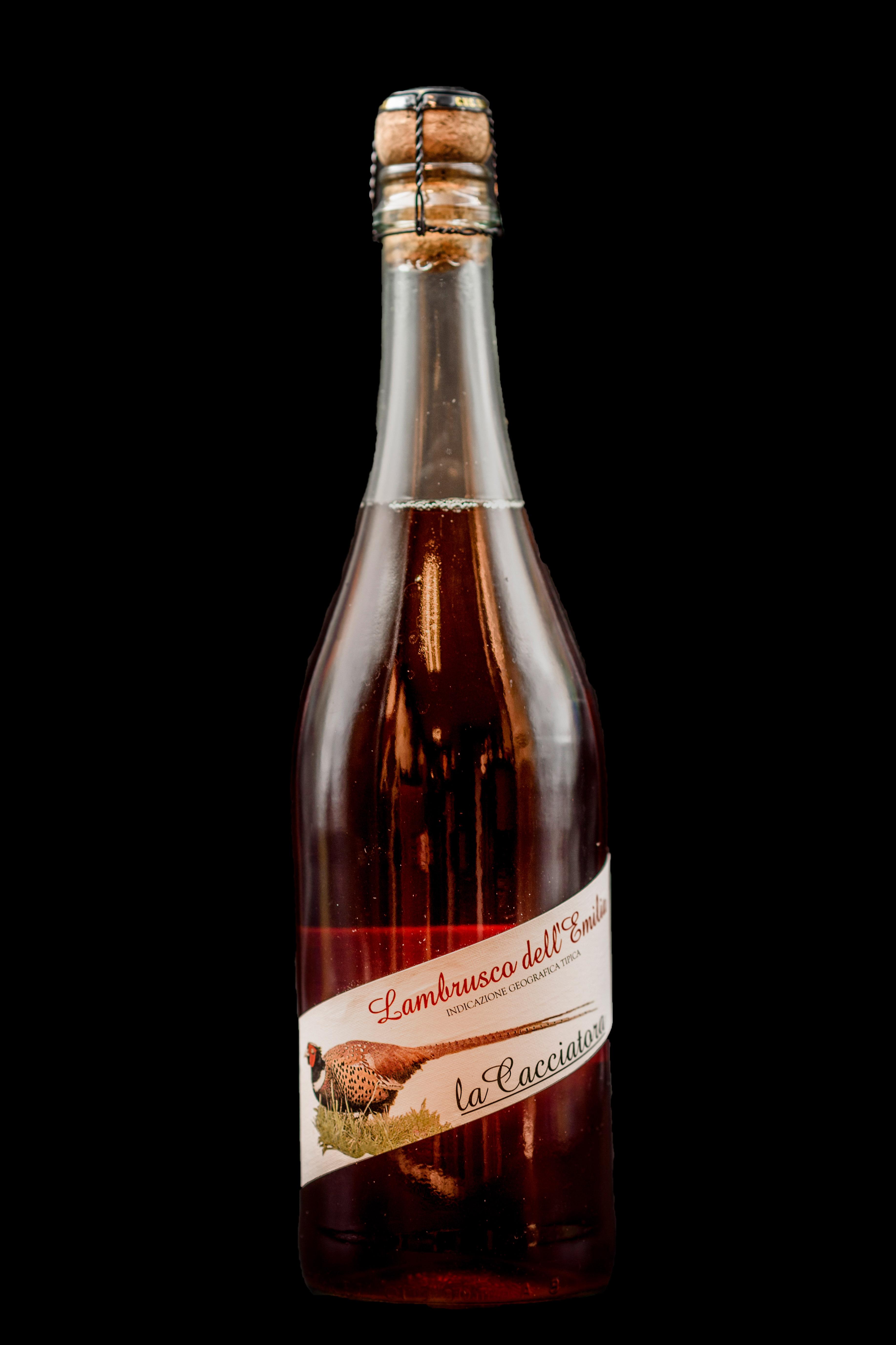 Botella Vino Rosado Lambrusco Restaurante Museo del Jamón de Alcorcón
