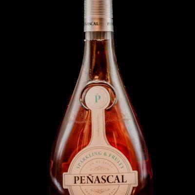 Botella Vino Rosado Peñascal. Restaurante Museo del Jamón de Alcorcón
