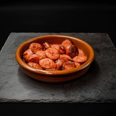 Ración Cazuela de Chorizo. Museo del Jamón de Alcorcón