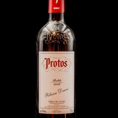 Botella Vino Tinto Ribera del Duero Protos Restaurante Museo del Jamón de Alcorcón